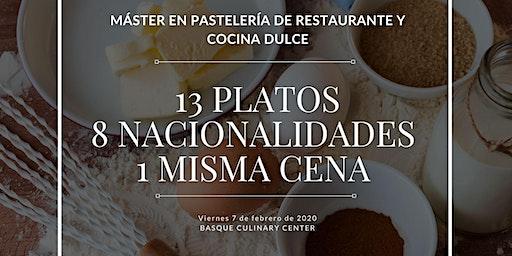 Cena ofrecida por estudiantes de Máster de Pastelería Basque CulinaryCenter