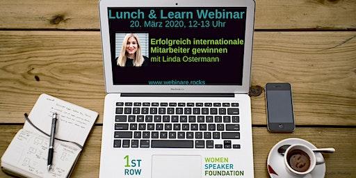 """Webinar """"Internat. Mitarbeiter gewinnen"""" mit Linda Ostermann"""