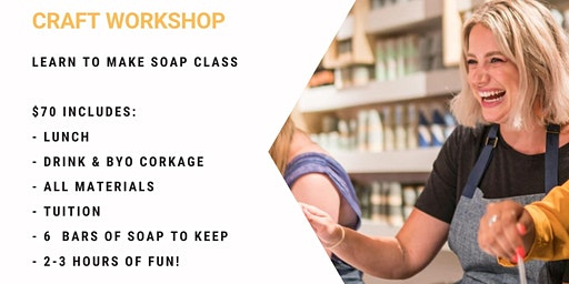 Grab a glass of wine and learn to make soap!