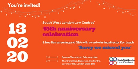 South West London Law Centres 45th celebration, film & Q&A with Ken Loach tickets