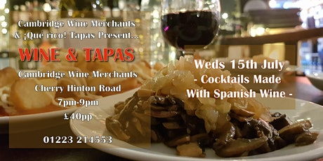 Wine and Tapas Tasting: Cocktails Made With Spanish Wine (CH) tickets