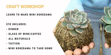 Grab a glass of wine and learn to make Mini Kokeda tickets