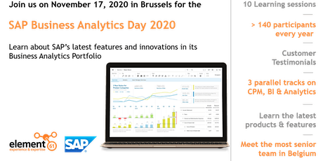 SAP Business Analytics Day 2020 billets
