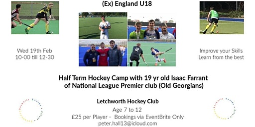 Morning Hockey Camp -Isaac Farrant  ( England U18 -National League Player)