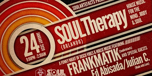 SOULArtefacts presents SOULTherapy Orlando