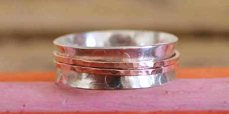 Textured Silver Ring Class - Beginners Silversmithing tickets