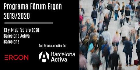 Programa Fórum Ergon 2019/2020 impulsado por Fundación Ergon entradas