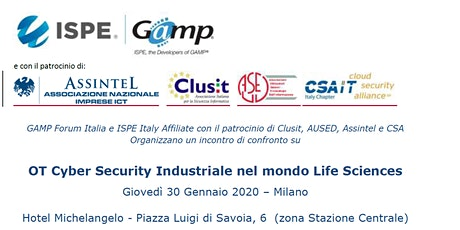 OT Cyber Security Industriale nel mondo Life Sciences biglietti