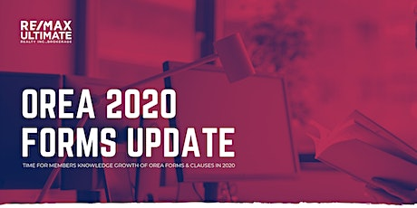 OREA 2020 Forms Update Course tickets