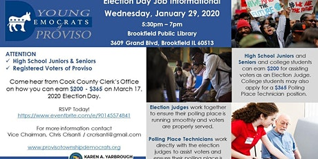 Election Day Job Informational - HS Jr & Sr + Registered Voters tickets