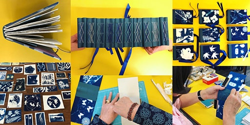 Cyanotype and Bookbinding Workshop