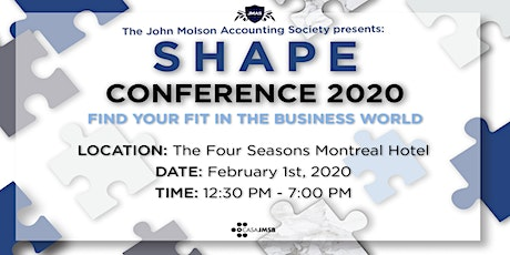 JMAS presents: The SHAPE Conference 2020 tickets