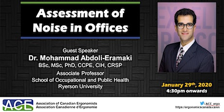 ACE Toronto Meeting - Seminar: Assessment of noise in offices tickets