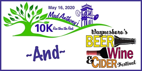 Waynesboro Beer, Wine and Cider Festival and Mad Anthony's 10K tickets