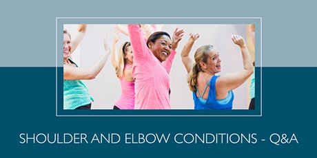 Free patient health talk: Shoulder and elbow conditions tickets