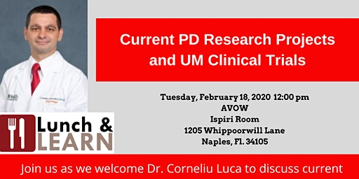 Current PD Research Projects and UM Clinical Trials