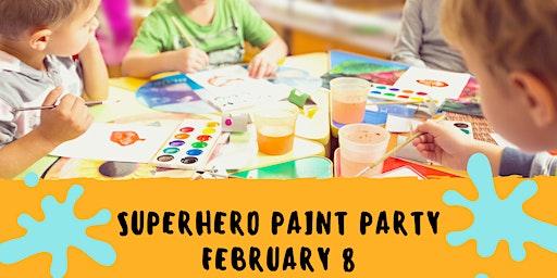 Superhero Paint Party