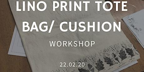 Lino Print Tote Bag/Cushion - Craft Workshop tickets