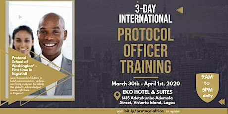 International Protocol Officer Training tickets