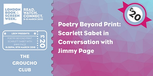 Poetry Beyond Print: Scarlett Sabet in conversation with Jimmy Page