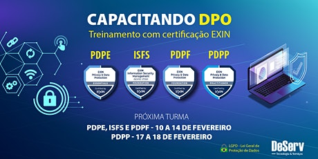 CERTIFICAÇÃO EXIN CAPACITAÇÃO DPO / LGPD | FEVEREIRO ingressos