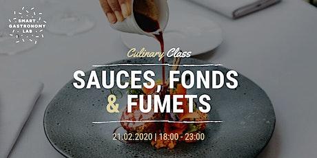 [Culinary Class] Apprenez à réaliser vos sauces, fonds et fumets tickets