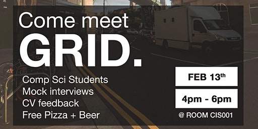 Come meet GRID. - Mock Interviews, CV Feedback, Pizza+Beer for CS students