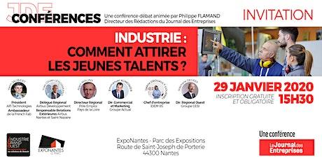 """Conférence-débat """"Industrie : comment attirer les jeunes talents ?"""" billets"""