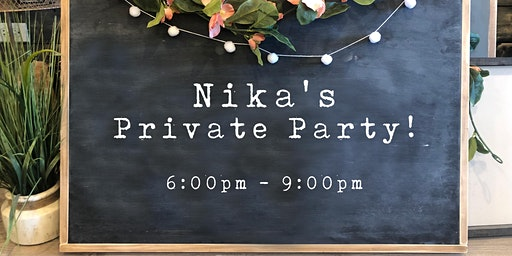Nika's Party! Invite Only | Wood Sign Workshop