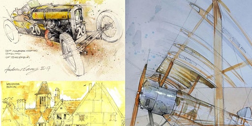 Andy Gray- The Travelling Sketchbook:Capturing British Historical Heritage.