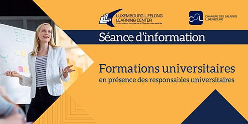 Séance d'information : Formations universitaires