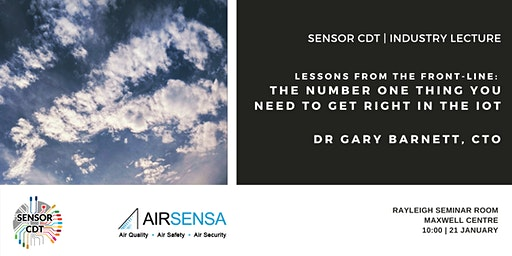 AirSensa: The number one thing you need to get right in the IoT