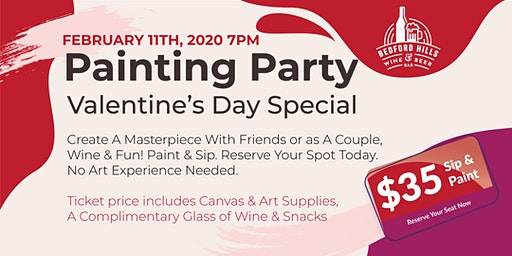 Paint & Sip - Valentine's Day Special Painting