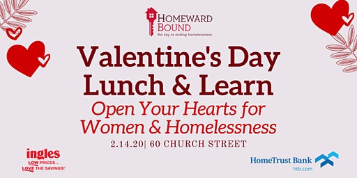 Open Your Hearts for Women and Homelessness Valentine's Day Lunch and Learn