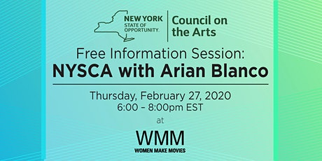 Free Information Session: NYSCA with Arian Blanco tickets
