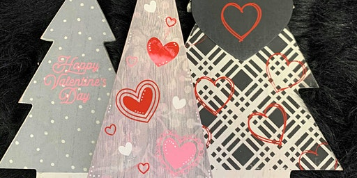 Chalk Couture Valentine Trees