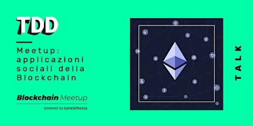 Meetup: applicazioni sociali della Blockchain