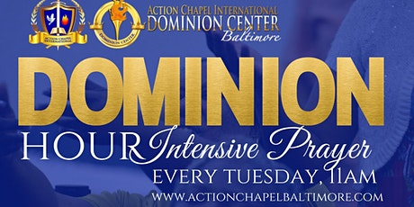 Dominion Hour: Teaching and Intensive Prayer (via the Prayerline during coronavirus) tickets