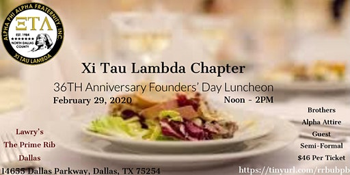 Xi Tau Lambda 36th Anniversary Chapter Luncheon