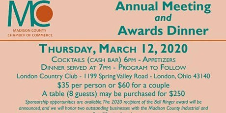Annual Meeting and Awards Dinner tickets