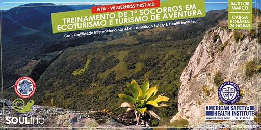 TREINAMENTO DE 1º SOCORROS EM ECOTURISMO E TURISMO DE AVENTURA