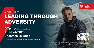 Salford Lecture Series Presents Martin Hewitt: Leading through adversity