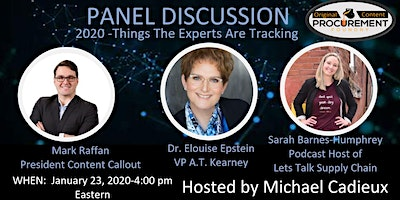 Panel Discussion-Things the Experts Are Tracking-2020