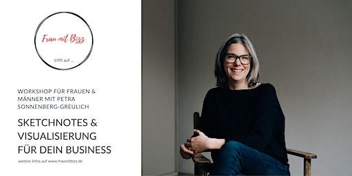 Sketchnotes & Visualisierung  für dein Business | Workshop Frau mit Bizz