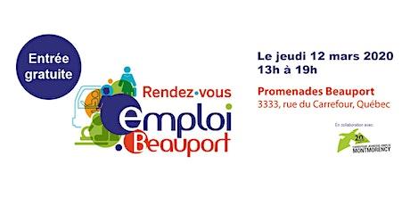 Rendez-vous emploi Beauport 2020 billets