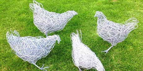 Wire Bird sculpture workshop with Chris Moss - Chickens and Ducks tickets