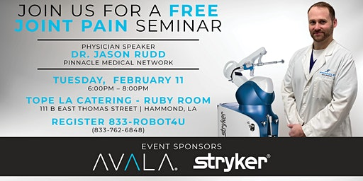Free Joint Seminar - Jason Rudd, MD
