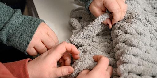 DIY Chunky Blankets @ Blue Wolf Brewing