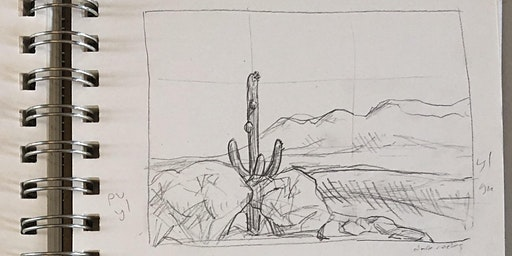 Session 1, SAGUAROS - Drawing Skills for Field Notebooks (Tumamoc Art & Science Course)