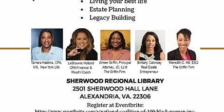 National Coalition of 100 Black Women, Inc., NOVA Chapter Economic Empowerment Workshop tickets